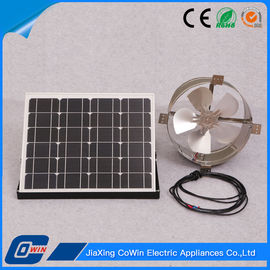 China Metal Solar Powered Gable Vent Fan 12 Volt Low Noise For Home 800 Cfm supplier