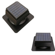China Cool Attic Solar Roof Ventilator With Thermostat Home Depot Exhaust Green Air 900FCM supplier