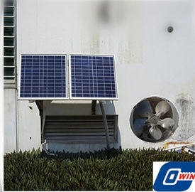 China 25 Watt Air Conditioning Solar Vent Fan With 12V Brushless DC Motor For Home Use supplier