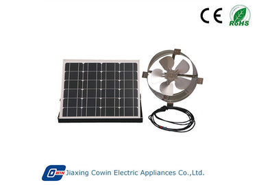 China 20W Brushless Solar Powered Gable Vent Fan With 12in Aluminium Fan Blade factory