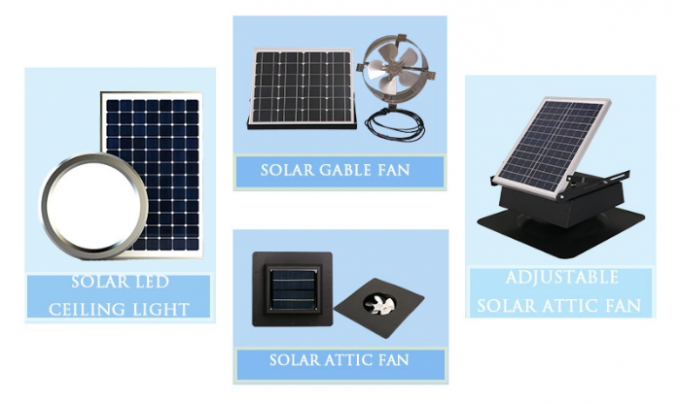 Mini Solar Energy System Movable Ventilation Fan For Small Portable Homes